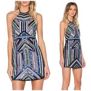 NBD x Naven Twins Involved Beaded Mini Dress